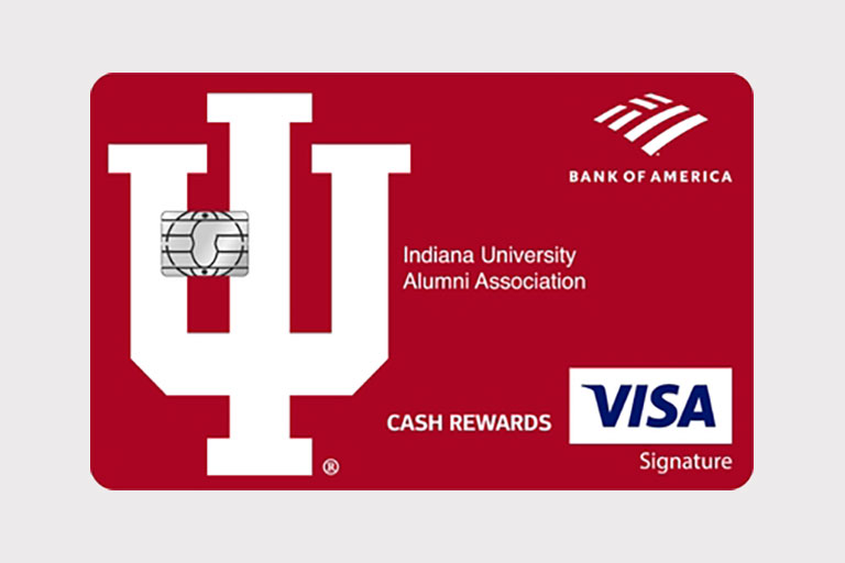 An IU Bank of America visa card