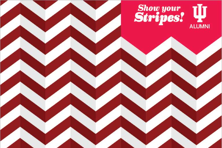 3D chevron stripe pattern with the words
